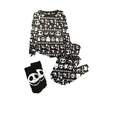 8505a549c Amazon.com: Disney Women's Nightmare Before Christmas Plush Velour 3-Piece Sleepwear  Pajama Set: Clothing
