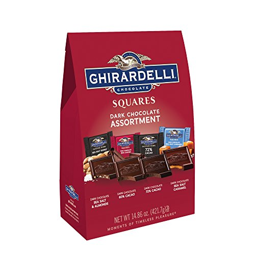 Ghirardelli Dark Assorted Squares XL Bag, 14.86 Ounce