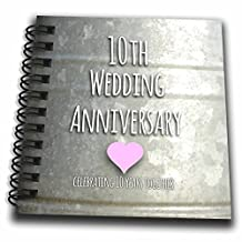 InspirationzStore Occasions - 10th Wedding Anniversary gift - Tin celebrating 10 years together - tenth anniversaries ten yrs - Mini Notepad 4 x 4 inch (db_154441_3)