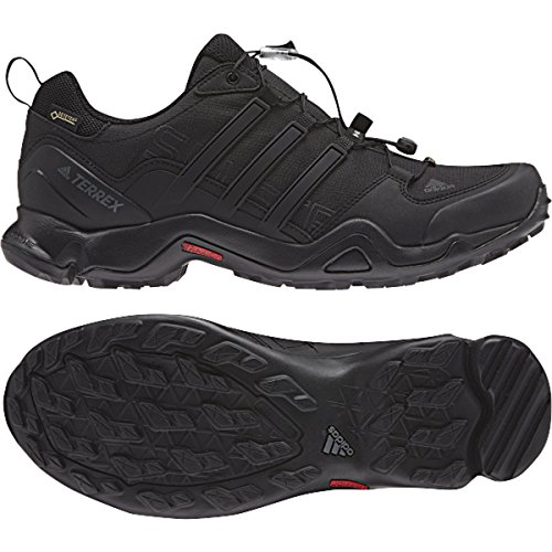 Image of the adidas outdoor Men's Terrex Swift R GTX Black/Black/Dark Grey Hiking Shoes - 11.5 D(M) US