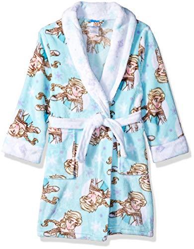 Disney Girls' Big' Frozen Elsa Luxe Plush Robe, Stream, 10