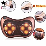 PERFECT Massage Pillow with Heat Balls and Car Adapter, Neck Massager Shoulder Massager Back Massager for Home, Office and Car Use Electronic Massage Pillow Massager Cushion Car Lumbar Neck Back Shoulder Heat Pillow Deep Kneading Massager Relax Pain Back Pillow for Car Home Office Massager