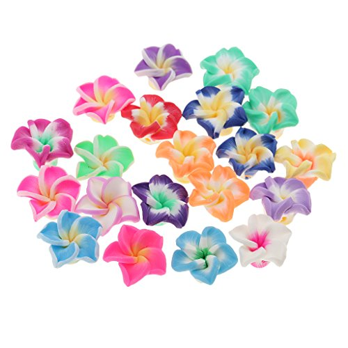 umeria Rubra Polymer Clay Beads Charms Jewelry Making Accessories Findings 15mm (Plumeria Clay)