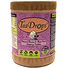 TeaDrops Organic Flower & Plant Food Packets For House Watering Can [Feed Indoor & Outdoor Garden Plants While You Water] Easy + NO Smell + Makes up to 32 Gallons Liquid Fertilizer Tea (16 TeaDrops®, All-Purpose Formula)