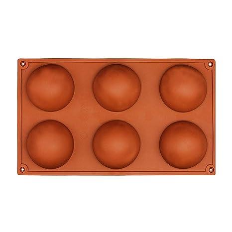 Naisicatar 6 cavidades del Molde Grande Media Esfera Tortas de Silicona Hemisferio Cúpula de Chocolate Bandeja