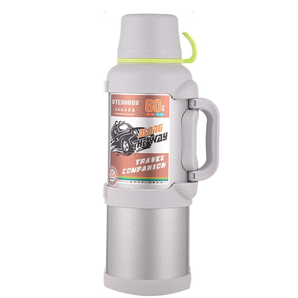 Edelstahl-Isolierung Topf Im Freien Auto Reisen Haushalt Thermosflasche Trinkflasche GroßE KapazitäT Tragbaren Becher 4l YZRCRK