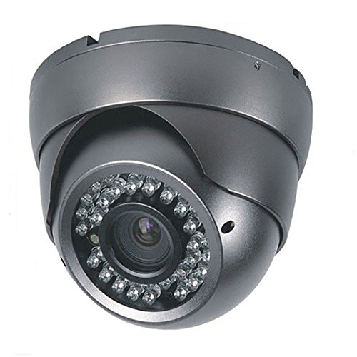 1000TVL 2.8-12mm Varifocal Vandal Proof Indoor Outdoor Dome IR Security Camera CCTV BNC Surveillance 960H Grey NTSC