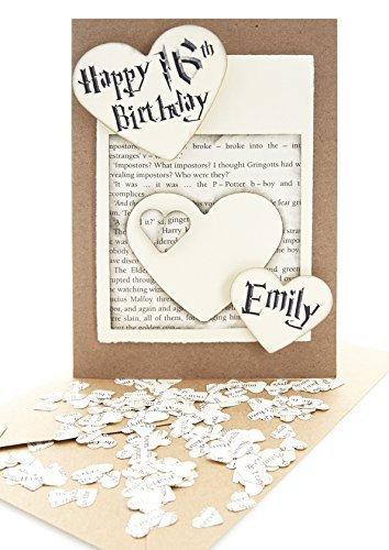 Amazon Handmade 5x7 Personalised Birthday Cards With Mini Heart