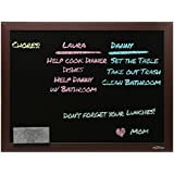 MyGift Wall Mounted Hanging Wooden Chalkboard / Blackboard Display Sign for Offices / Cafes / Classrooms