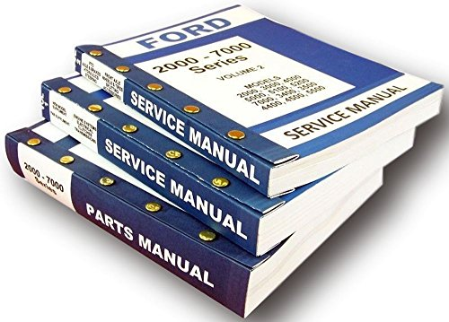 Lot New Ford 5200 5000 Series Tractor Service Repair Shop Parts Manuals ()