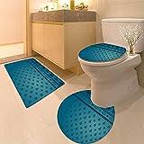 3 Piece Anti-slip mat set Taj Maha palace in India on sunrise Non Slip Bathroom Rugs