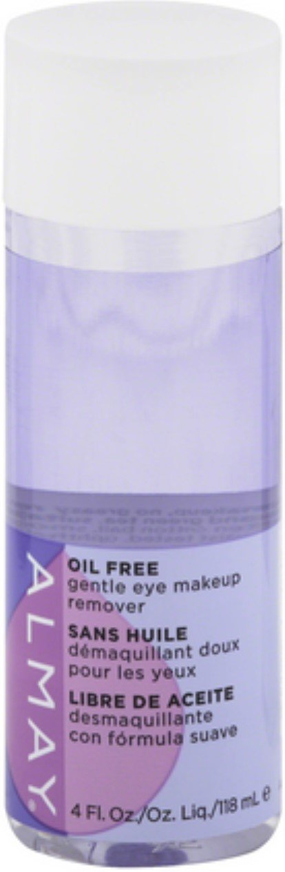 Almay Eye Makeup Remover Liquid, Oil-Free, 4 oz (Pack of 8)