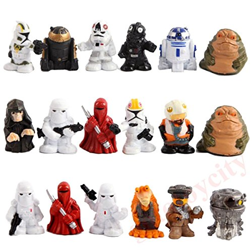 18Pcs Set Mini Star Wars R2 D2 Stormtrooper Birthday Cake Action Figures (R2d2 Trash Can Costume)