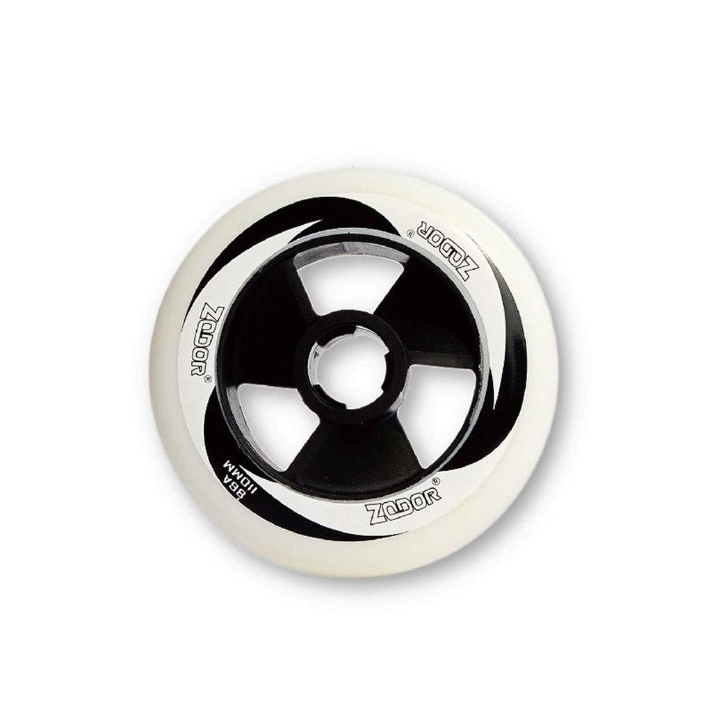 ailj インラインスケートホイール、スケーティングホイール、ローラーシューズに適して90MM-110MMホイール(2色) (色 : 白, サイズ さいず : 100MM) B07HRQV8WZ 110MM|白 白 110MM