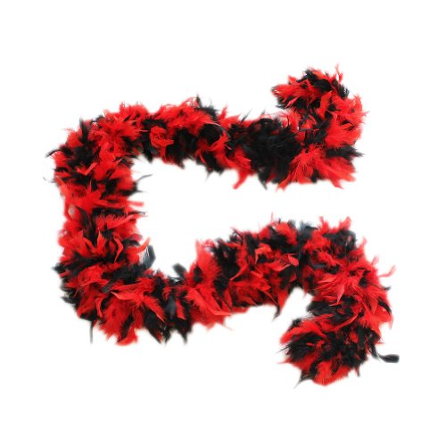 Cynthia's Feathers 100g Chandelle Feather Boa (Red/Black Mix)]()
