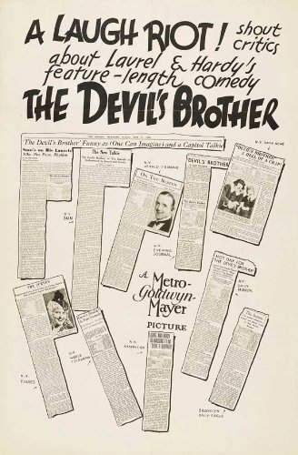 The devil/'s brother Laurel /& Hardy movie poster print