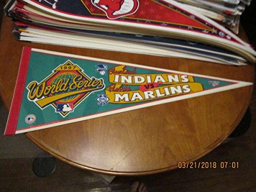 1997 Cleveland Indians vs Florida Marlins World Series pennant ()