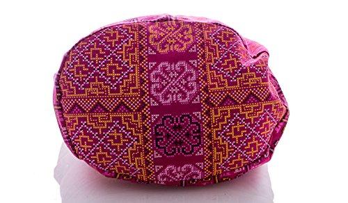 Thai Bag Cross Crossbody Geometry Hippie Messenger Sling Pink Avarada Pattern Purse Stitch Hobo Cotton Bohemian aSqnPdY