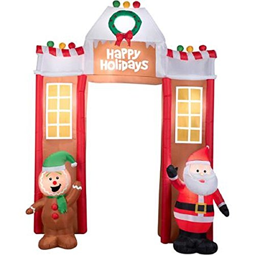 Outdoor Lighted Gingerbread House Decorations - 1