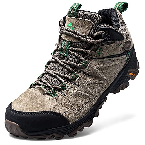Hiking Boots for Men Breathable Climbing Trekking Shoes Outdoor Sports High-Top Traveling Sneakers (3520 Khaki,13) from HUMTTO