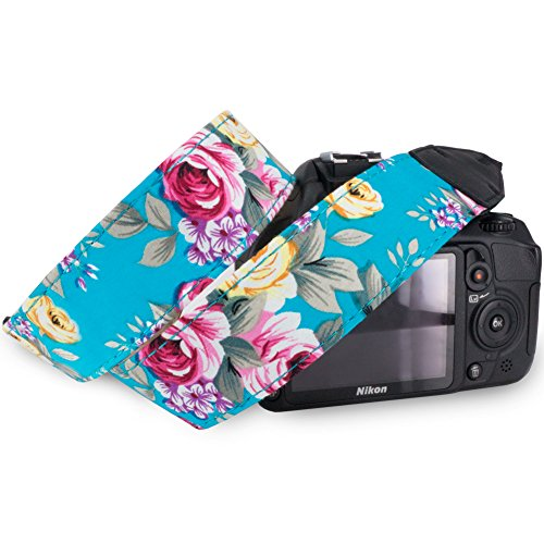 Pass Lanry Adjustable Camera Camcorder Neck Shoulder Strap Belt for SLR/DSLR/DC Digital Camera,Nikon,Sony,Canon,Pentax,Olympus Etc – Green Floral