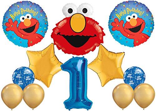 - Elmo Happy 1st Birthday Balloon Bouquet