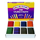 Colorations Chubby Crayons for Kids Set of 200 Rainbow Crayons Classroom Supplies (2-11/16''L x 9/16''Dia)