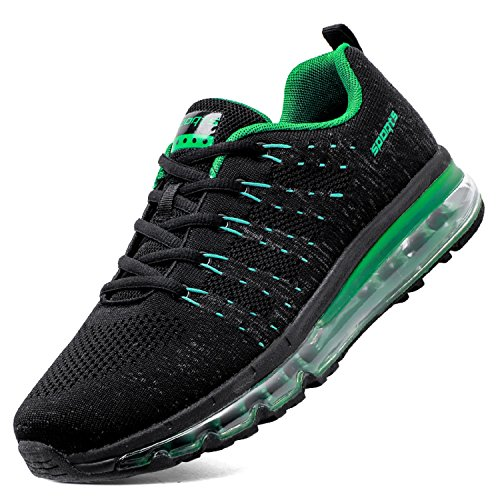 Sneakers Walking Fashion Lightweight Shoes Men's Shoe Running Cushion Athletic TQGOLD Women's Green Air 81qaxBA