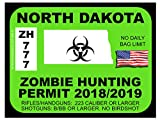 North Dakota Zombie Hunting Permit(Bumper Sticker)