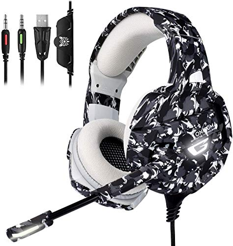 ONIKUMA Gaming Headset PS4 Headset with 7.1 Surround Sound, Xbox One Headset...