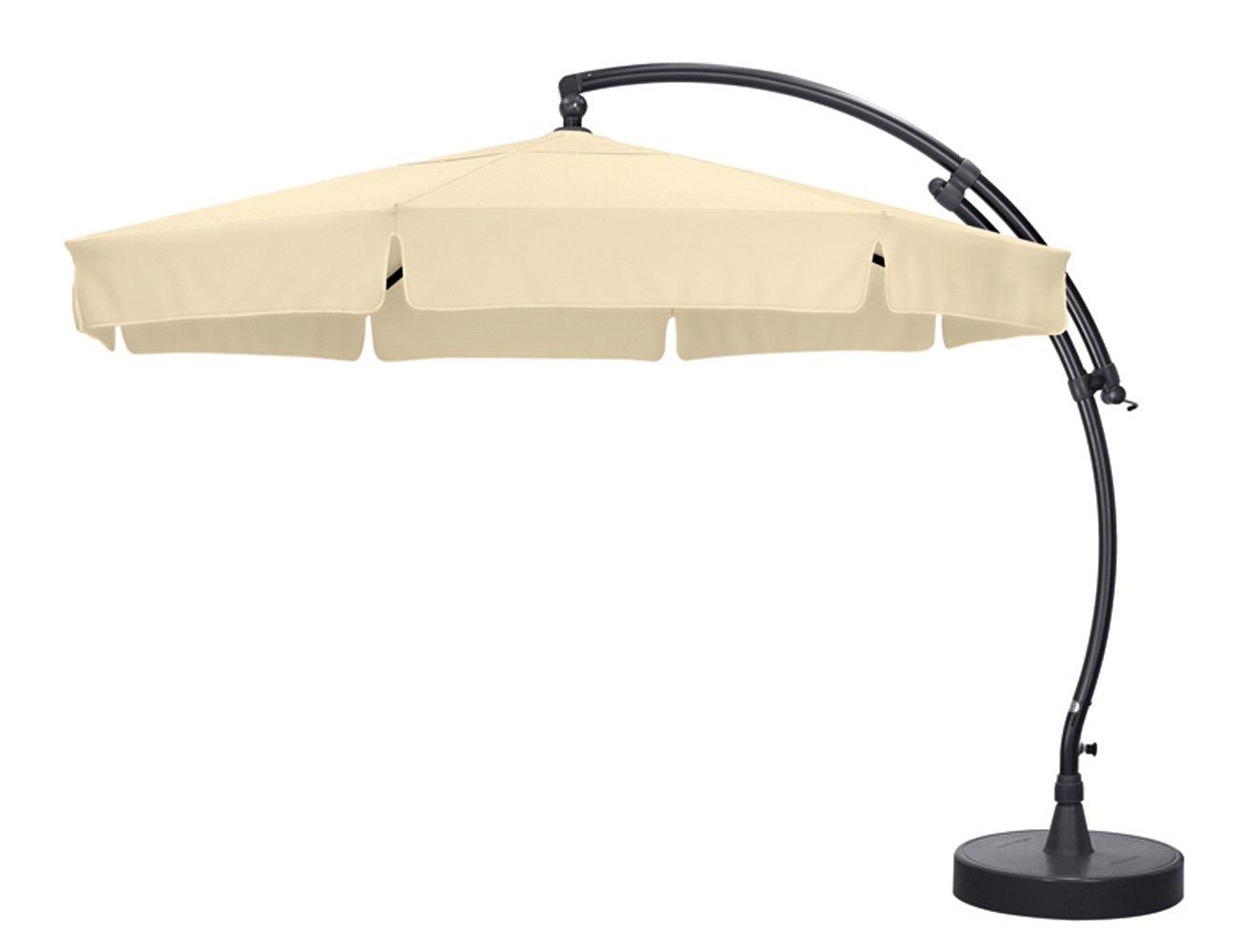 Sun Garden 10115886 Ampelschirm Easy-Sun, Polyester, ø 3.5 m, anthrazit / beige