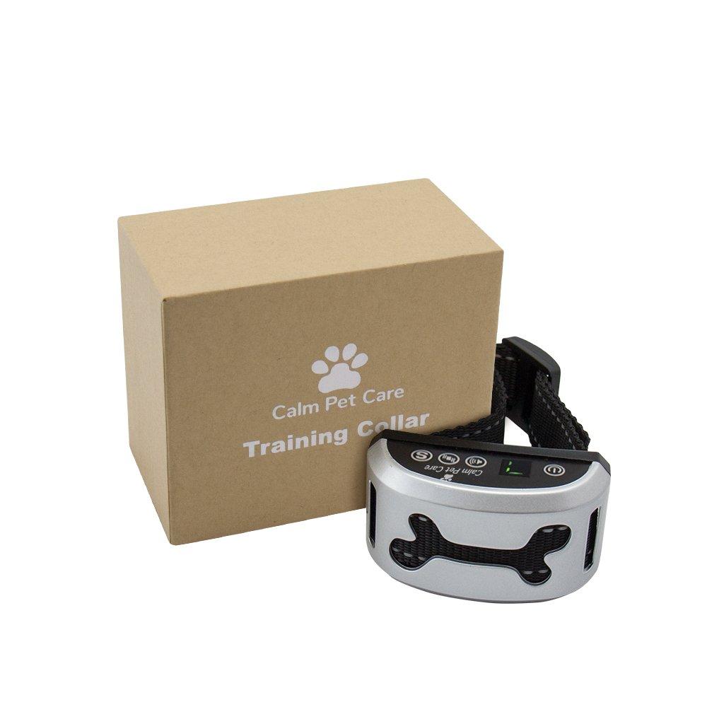 Calm pour animal domestique Care-digital anti-aboiement Dog Training Collar-safe et cruauté avec son et Vibration-water résistant et batterie–pour chiens de 15–150lbs- 7sensibilité Levels-stops aboiements fiable CalmPetCare
