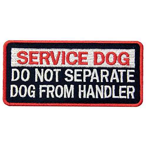 Service Dog Do Not Separate Dog from Handler Vests/Harnesses Patch Embroidered Fastener Hook & Loop Emblem
