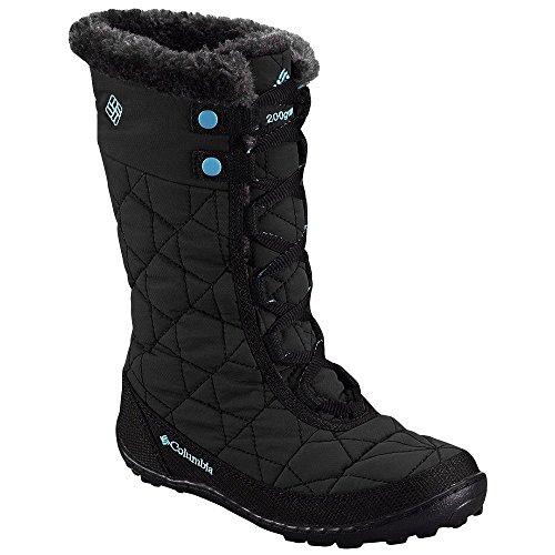 Columbia Minx Mid II WP Snow Boot (Little Kid/Big Kid), Black/Iceberg,1 M US Little Kid
