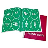 AW 100 Designs of Tattoo Airbrushing Stencil Book Reusable Airbrush Temporary Tattoo Stencil