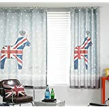 YouYee Children's Windows Curtain Polyester Cute UK Horse drape/panels/treatment/door Blackout size 57*72