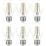 AmazonBasics 25 Watt Equivalent,  Clear, Dimmable, A19 LED Light Bulb, 6-pack