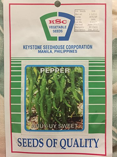 Keystone Peppers Seed (Aruy-uy SWEET Long Green Pepper Seeds Philippine Vegetable KSC Manila)