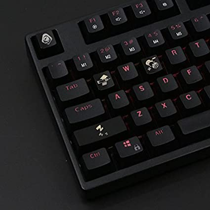 All Decor Overwatch Theme Keycaps Hand-Engraved Resin Translucidus Backlit  Key caps for Mechanical Keyboards (Cherry switches) with Gift Case - Ana