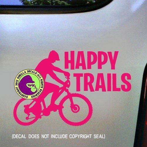Happy Trail Rack (HAPPY TRAILS MOUNTAIN BIKING Vinyl Decal Sticker C)