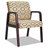 Alera ALERL4351M Reception Lounge Series Guest Chair, Mahogany/Tan Fabric For Sale