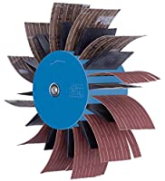 "PFERD 45950 POLIFLAP Flap Wheel, 7"" Diameter x 2-3/8"" Width, 3/8"" Shank, 3500 Maximum rpm"