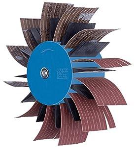 "PFERD 45950 POLIFLAP Flap Wheel, 7"" Diameter x 2-3/8"" Width, 3/8"" Shank, 3500 Maximum rpm"