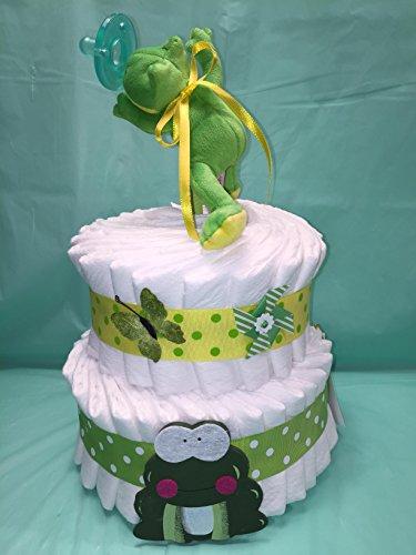 Frog Wubba NUB Gender Neutral 2 Tier Diaper Cake