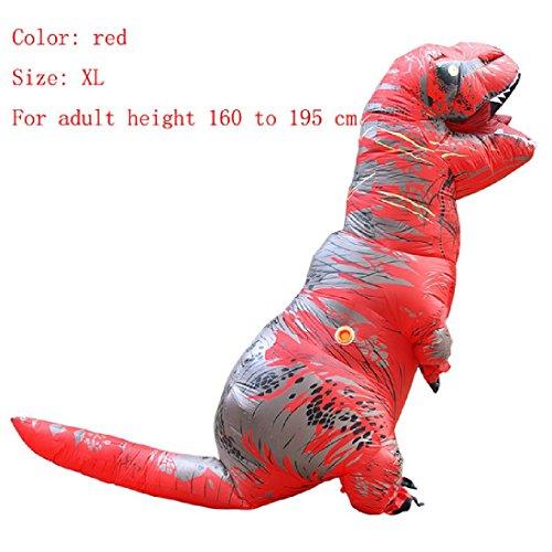 Halloween Cosplay Inflatable Dinosaur Costume Dino Jumpsuit Fancy Dress (Dino Fancy Dress Inflatable Suit)
