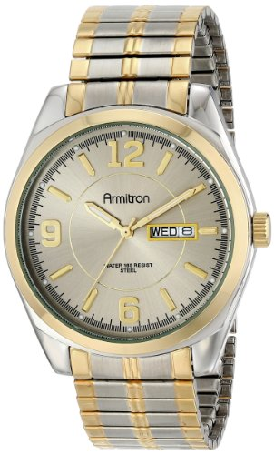 Armitron Men's 204591GYTT Two-Tone Expansion Band Dress Watch