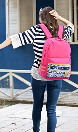 Purple Backpack for Stylish Tribal VP0185B Women Printed Bookbag Sannea School Canvas Navy TvawUq