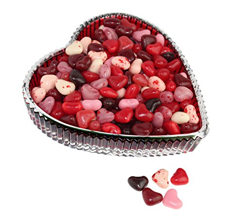 Gold Label Godinger Tenderness Red Heart Tray with 1 Lb. Gimbals Cherry Lovers Candy Hearts - Valentines Gift -