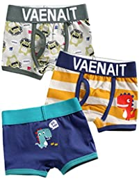 2T-7T Toddler Kids Boys Underwear Boxer Briefs 3-Pack Set Boxer