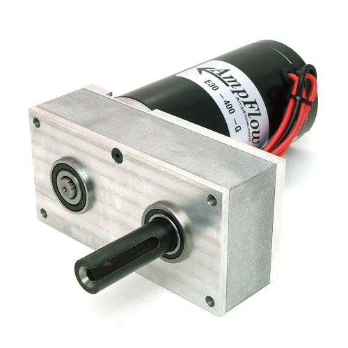 Image of AmpFlow E30-400-G Electric Gearmotor, 12V, 24V or 36 VDC, 680 RPM Permanent Magnet Motors